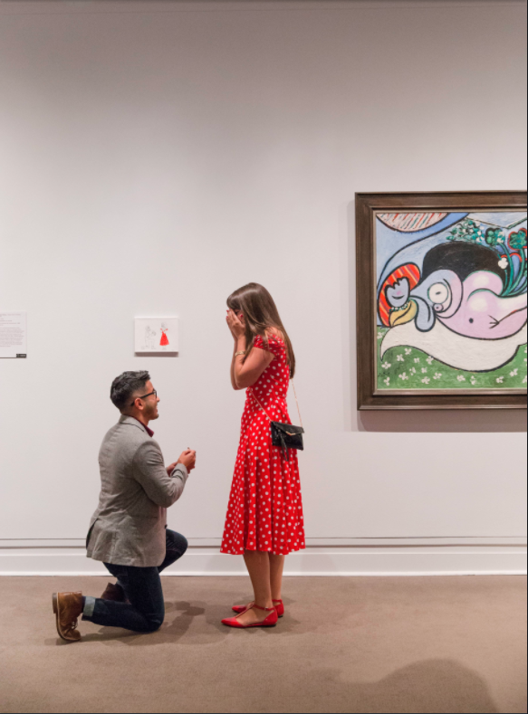 This man's proposal has gone viral for the cutest reason. Photo: Reddit