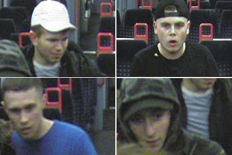 Police want to speak to four men in connection with the incident: British Transport Police