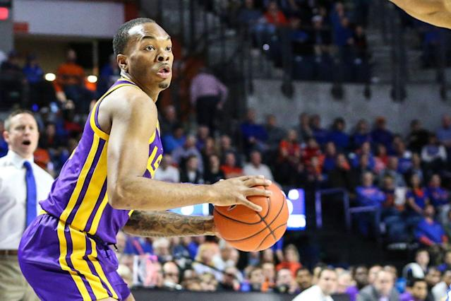LSU guard Javonte Smart (1) will not play against Vanderbilt. (AP Photo/Gary McCullough)
