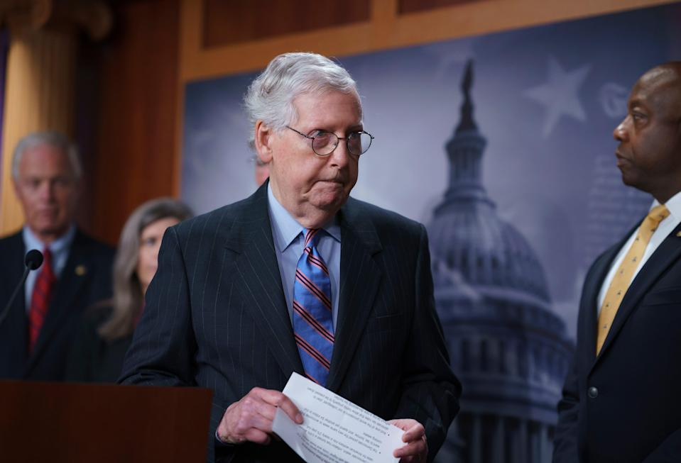 Senate Minority Leader Mitch McConnell. (Copyright 2021 The Associated Press. All rights reserved)