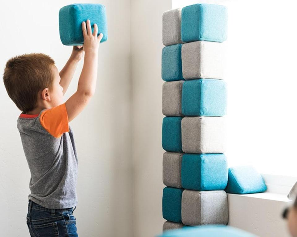 <p>Don't let the high price tag on these <span>MagnetBlox</span> ($300) make you nervous; this fun, educational toy will provide entertainment for years to come! It comes with 19 fabric cubes and 8 triangles, each filled with magnets that allow kids to build towers, bridges, houses, tunnels, letters, and more.</p>