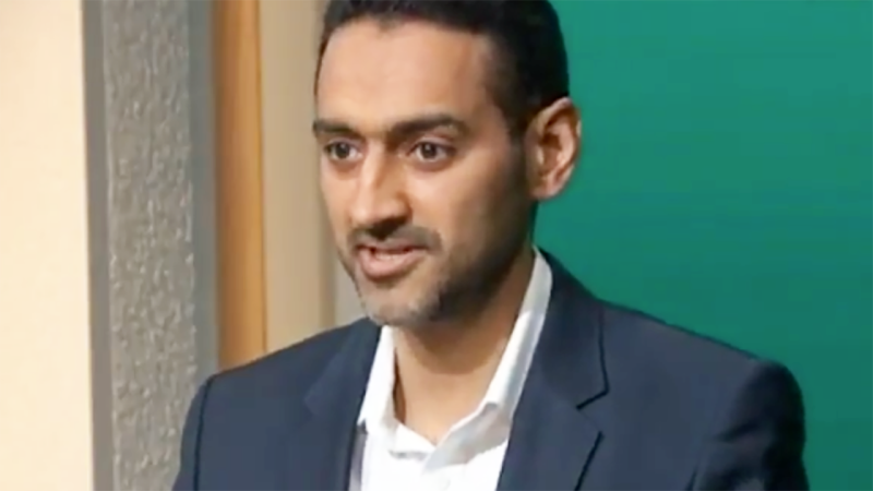 Waleed Aly, pictured here talking about the Big Bash season.