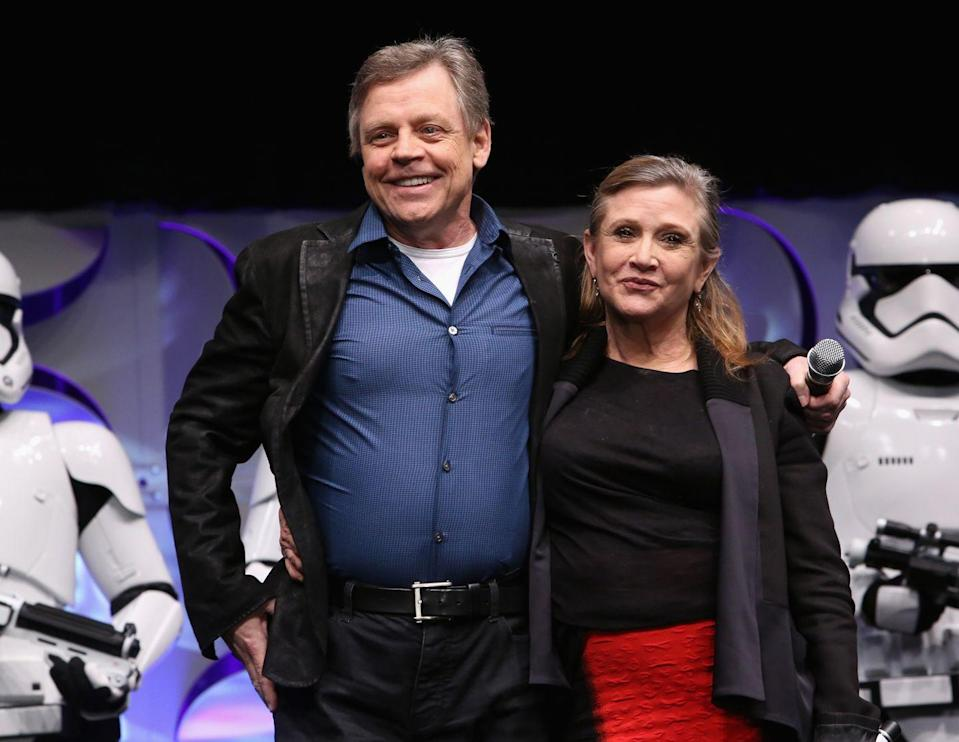 <p>As Disney geared up to release its first installment of the series after purchasing the rights to the franchise, Carrie and Mark Hamill reunited for the first time since 1983 in <em>Star Wars Episode VII: The Force Awakens. </em></p>
