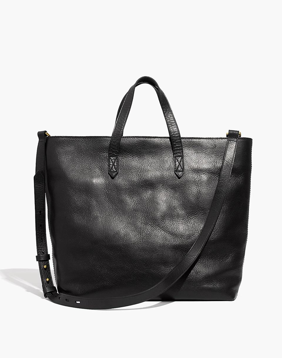 "<h3>Madewell The Zip-Top Transport Carryall</h3> <br><strong>Best For: The</strong> <strong>Master's Grad<br>Budget: Under<br></strong> <strong>$150</strong><br>Help them move from classroom to office with a work bag that's equal parts stylish, professional, and commuter-friendly — this medium-sized tote is crafted from semi vegetable-tanned leather with a softly worn finish, secure zipper closure, adjustable crossbody strap, and can be personalized with a gold-lettered monogram.<br><br><em>Shop <strong><a href=""https://www.madewell.com/"" rel=""nofollow noopener"" target=""_blank"" data-ylk=""slk:Madewell"" class=""link rapid-noclick-resp"">Madewell</a></strong></em><br><br><strong>Madewell</strong> The Zip-Top Transport Carryall, $, available at <a href=""https://go.skimresources.com/?id=30283X879131&url=https%3A%2F%2Fwww.madewell.com%2Fthe-zip-top-transport-carryall-99104791093.html"" rel=""nofollow noopener"" target=""_blank"" data-ylk=""slk:Madewell"" class=""link rapid-noclick-resp"">Madewell</a><br><br><br><br>"
