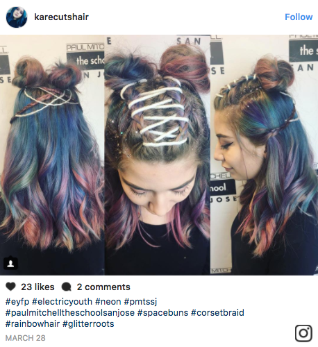 Previously seen only on children, corset braids are now taking on an edgy look on adults on Instagram.