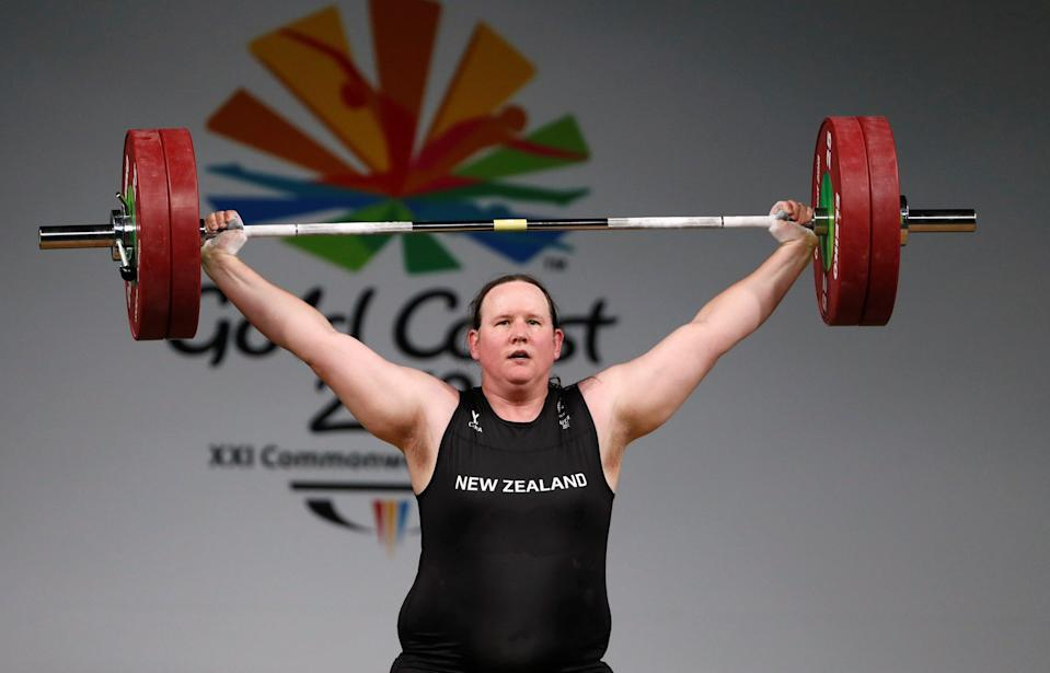 Hubbard will be the oldest weightlifter at the games, and will be ranked fourth in the competition for women weighing 87 kilograms (192 pounds) and over (REUTERS)