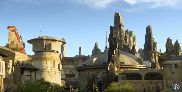 """A stay at """"Star Wars"""": Galactic Starcruiser includes a """"planet excursion"""" to Batuu, located in the """"Star Wars"""": Galaxy's Edge section of Disney's Hollywood Studios. (Photo: Disney Parks via YouTube)"""