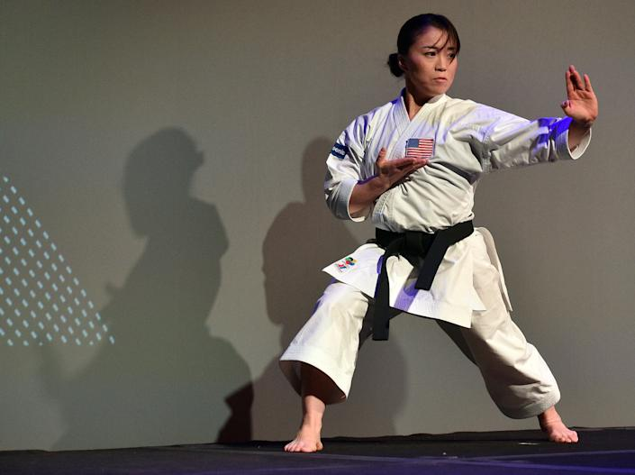Martial artist Sakura Kokumai, a seven-time USA National Champion and Team USA athlete, was harassed by a man while she was training in a park last week. (Photo: David Becker via Getty Images)