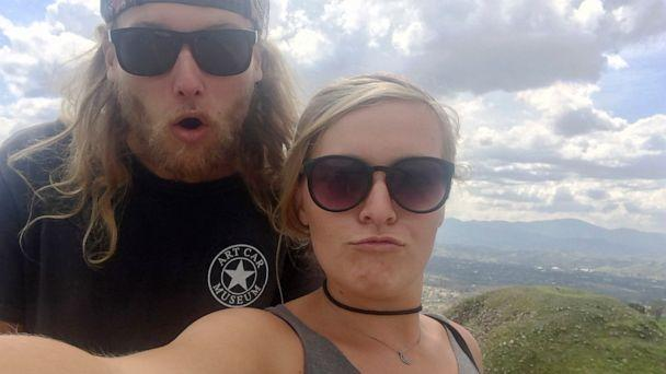 PHOTO:In this undated photo provided by the Deese family of Chynna Deese, 23-year-old Australian Lucas Fowler, left, and 24-year-old American girlfriend Chynna Deese poses for a selfie. (Deese Family via AP)