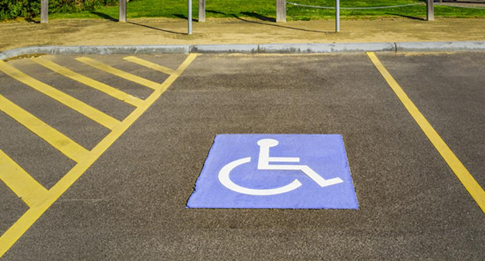 A disability parking bay