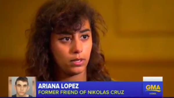 "A former friend of Nikolas Cruz, the 19-year-old who confessed to opening fire on a Florida high school last week, says she told school officials that she was concerned about his behavior ""multiple"" times over the last several years."