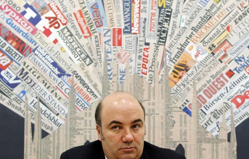 Monte Dei Paschi Bank CEO Fabrizio Viola attends a news conference in downtown Milan