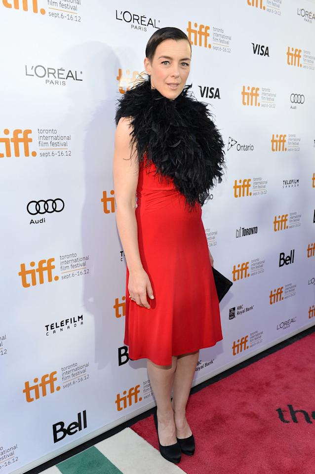 "WORST: Olivia Williams gets her second spot on the 10 Worst Dresses of TIFF list -- though, to be fair, if she'd left the giant feather collar at home, perhaps this outfit would have only been rated a ""meh."" As is, though, Williams makes another huge fashion misstep in Toronto."