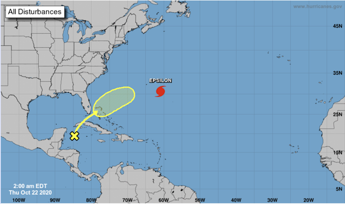 Forecasters are watching a new disturbance in the western Caribbean Sea Thursday that is forecast to bring heavy rain to portions of South Florida, Cuba and the Bahamas through early next week as it moves toward the western Atlantic.