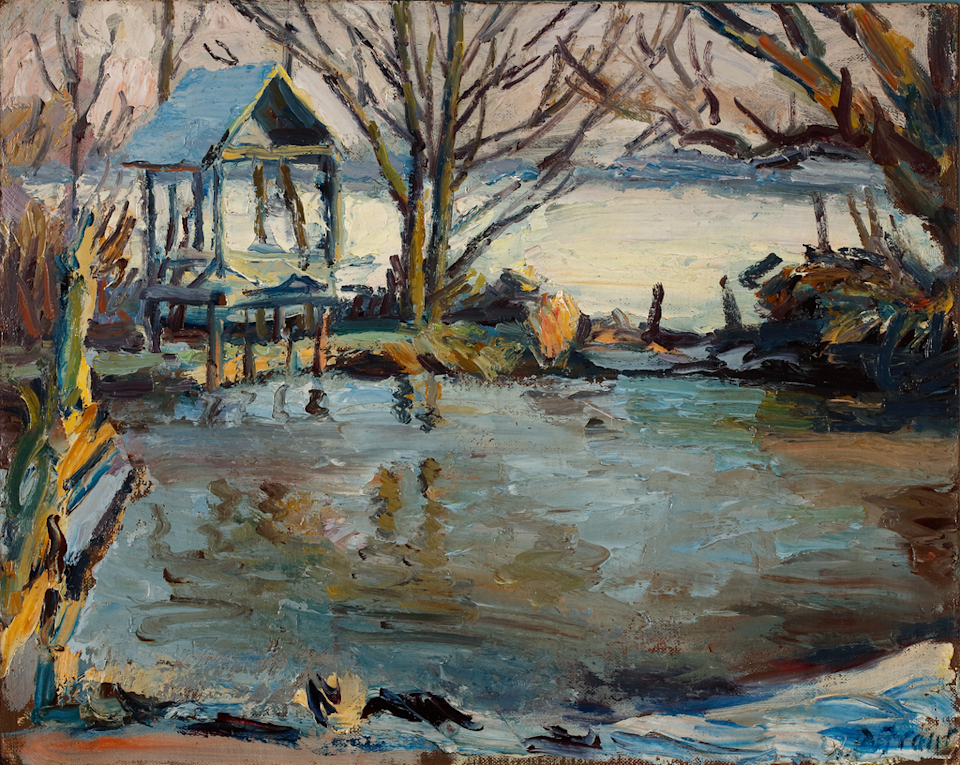 Duncan Grant, Pond in Winter, Charleston ( Philip Mould & Company)