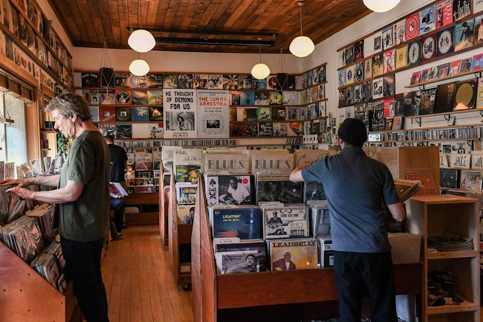 Portland's Mississippi Records is a spot you can shop for old and new school vinyl records. It also has a great used selection of vinyl records.