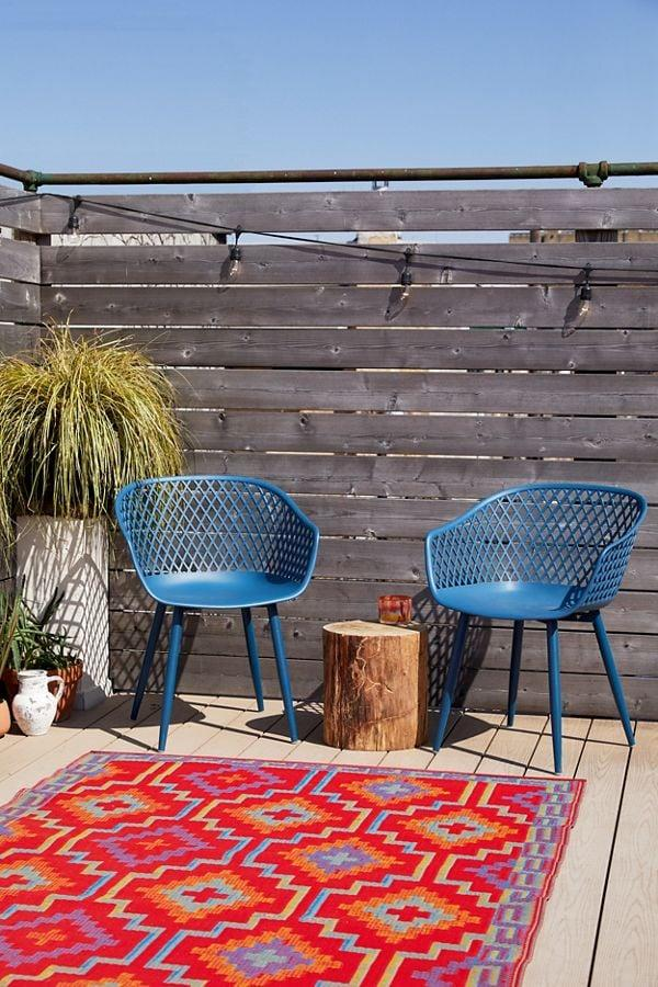 "<p>Spice up your patio with this <a href=""https://www.popsugar.com/buy/Jai%20Outdoor%20Chair-469835?p_name=Jai%20Outdoor%20Chair&retailer=urbanoutfitters.com&price=279&evar1=casa%3Aus&evar9=46396796&evar98=https%3A%2F%2Fwww.popsugar.com%2Fhome%2Fphoto-gallery%2F46396796%2Fimage%2F46396798%2FJai-Outdoor-Chair&list1=shopping%2Csales%2Curban%20outfitters%2Chome%20decor%2Csale%20shopping%2Chome%20shopping&prop13=mobile&pdata=1"" rel=""nofollow"" data-shoppable-link=""1"" target=""_blank"" class=""ga-track"" data-ga-category=""Related"" data-ga-label=""https://www.urbanoutfitters.com/shop/jai-outdoor-chair-set-of-2?category=furniture-sale&amp;color=040&amp;type=REGULAR"" data-ga-action=""In-Line Links"">Jai Outdoor Chair</a> ($279, originally $299) set.</p>"