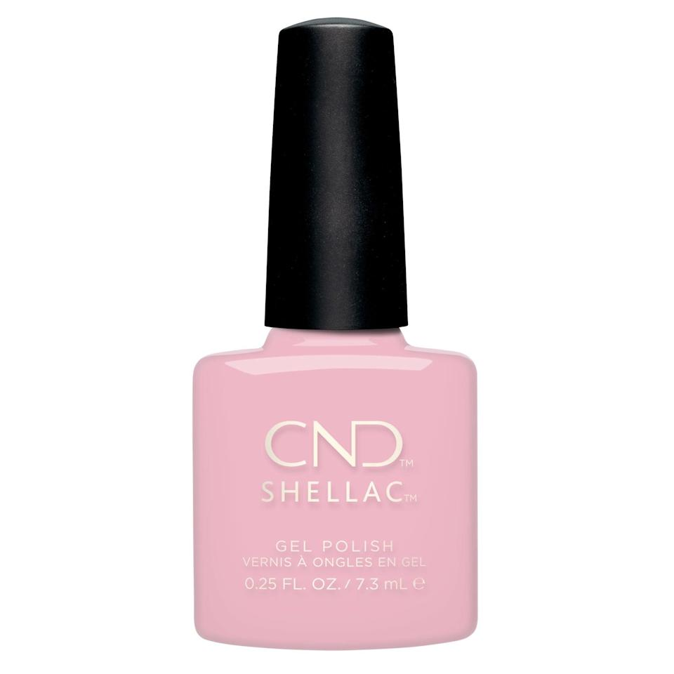 "<h3>CND Shellac Soft Peony</h3><br>In his Instagram Stories, Bachik shared some behind-the-scenes snaps from the photoshoot, including the bottle of nail polish he used: CND Shellac in Soft Peony.<br><br><strong>CND</strong> Shellac Soft Peony (0.25 oz), $, available at <a href=""https://go.skimresources.com/?id=30283X879131&url=https%3A%2F%2Fwww.walmart.com%2Fip%2FCND-Shellac-Soft-Peony-0-25-oz%2F815395061"" rel=""nofollow noopener"" target=""_blank"" data-ylk=""slk:Walmart"" class=""link rapid-noclick-resp"">Walmart</a>"