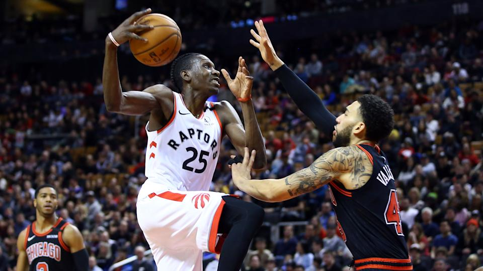Chris Boucher has re-signed with the Toronto Raptors. (Vaughn Ridley/Getty Images)