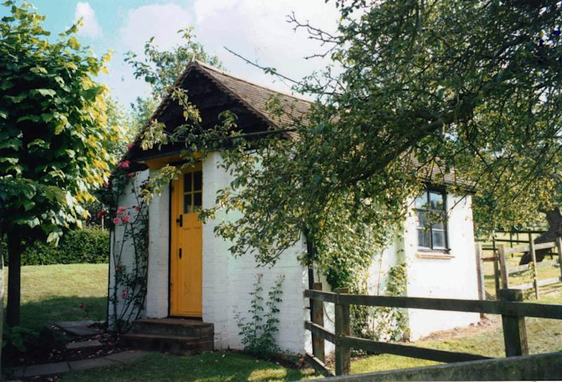 This undated photo issued Tuesday Sept. 13, 2011 by the Roald Dahl Museum and Story Center shows Roald Dahl's hut, located in the garden of his home, Gipsy House in Great Missenden, England.  The family of Roald Dahl is trying to raise the funds to preserve a hut in which the late writer wrote tales of big friendly giants and magical chocolate factories. The family hopes to raise 500,000 pounds ($790,000) to stop the 50-year-old brick and polystyrene shed _ preserved as it was when Dahl died in 1990 _ from falling apart. (AP Photo/ Roald Dahl Museum and Story Centre/PA Wire)  UNITED KINGDOM OUT