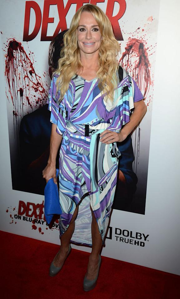 "Taylor Armstrong arrives at the ""Dexter"" Season 6 DVD release party held at Tropicana Bar inside The Hollywood Roosevelt Hotel on August 7, 2012 in Hollywood, California."
