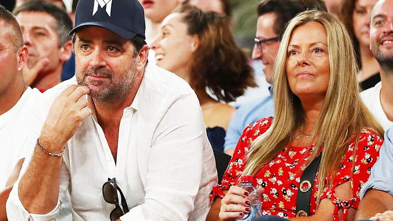 Seen here, Garry Lyon and Nicky Brownless at a sporting event in 2019.