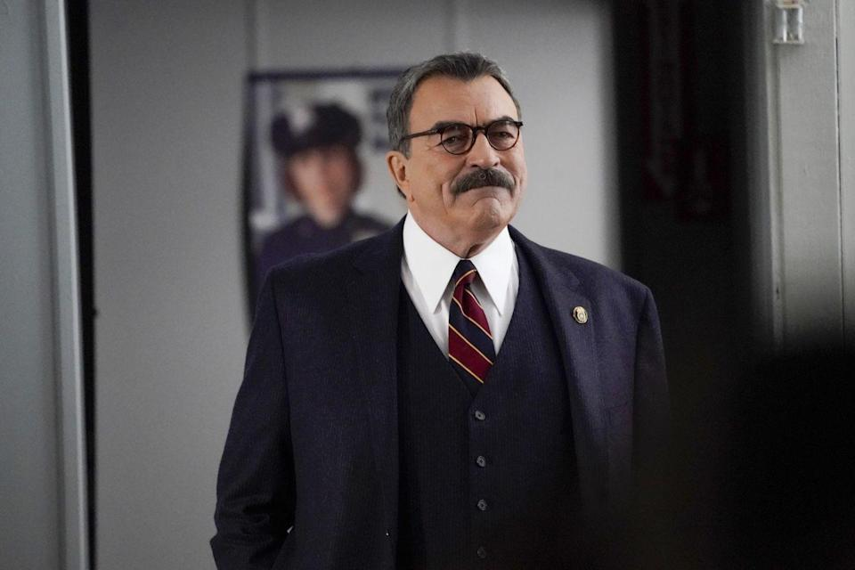 <p>Name one character where Tom Selleck isn't seen donning a mustache. </p>