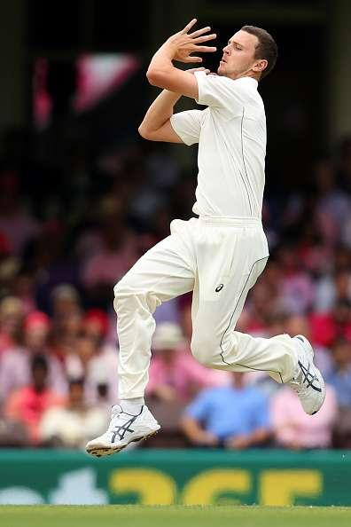SYDNEY, AUSTRALIA - JANUARY 05: Josh Hazlewood of Australia bowls during day three of the Third Test match between Australia and Pakistan at Sydney Cricket Ground on January 5, 2017 in Sydney, Australia. (Photo by Cameron Spencer/Getty Images)