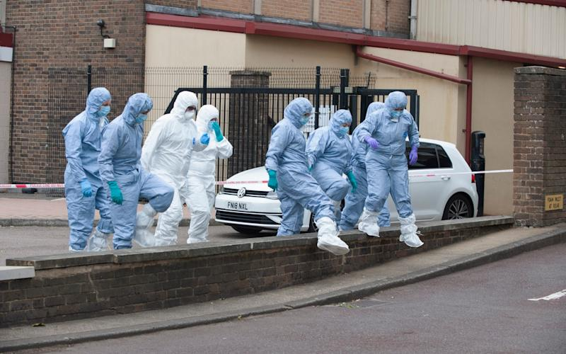 Police cordoned off an area in front of Andersons Heights in Norbury - Grant Falvey/LNP