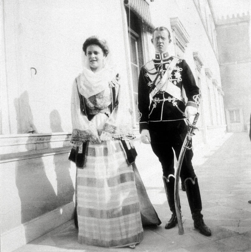 Princess Alice (1885-1969), daughter of Prince Louis of Battenberg, and Prince Andrew of Greece (1882-1944), Married in Darmstadt, 1903. (Photo by: Photo12/Universal Images Group via Getty Images)