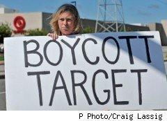 Activists are protesting Target after the retailer made a $150,000 contribution to a group that supports a Republican candidate for governor who once attended a fundraiser for an anti-gay group.