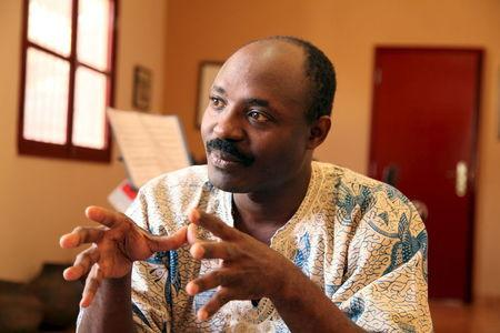 Journalist Rafael Marques de Morais gestures during an interview at his home in Luanda, Angola, in this picture taken May 12, 2015.  REUTERS/Herculano Coroado