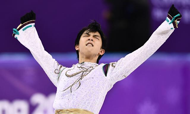 Japan's Yuzuru Hanyu became the first two-time Olympic men's figure skating champion since Dick Button of the United States in 1948 and 1952.