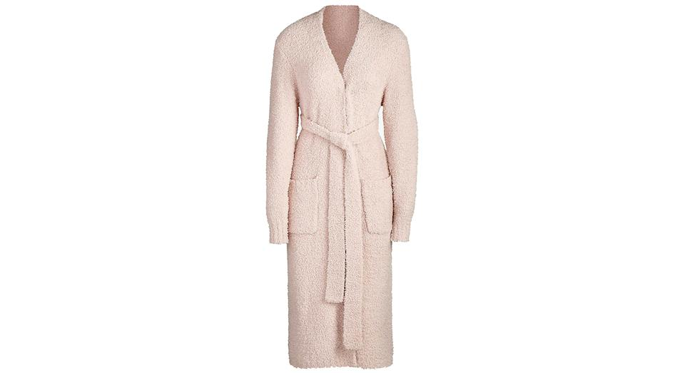 Cozy boucle knitted robe