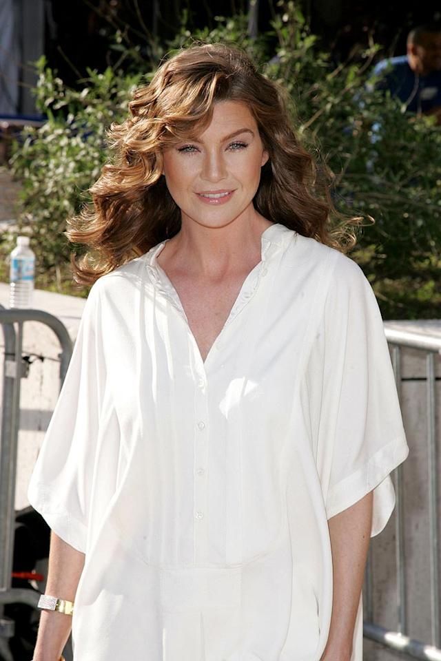 """Ellen Pompeo's loose-fitting top is a little too casual-chic. James Devaney/<a href=""""http://www.wireimage.com"""" target=""""new"""">WireImage.com</a> - May 15, 2007"""