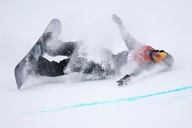 <p>Jan Scherrer of Switzerland crashes during the Snowboard Men's Halfpipe Final on day five of the PyeongChang 2018 Winter Olympics at Phoenix Snow Park on February 14, 2018 in Pyeongchang-gun, South Korea. (Photo by Cameron Spencer/Getty Images)the associated </p>