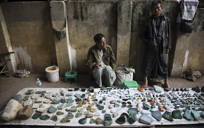 The jade industry is helping to keep the military afloat after it seized power in a coup earlier this year - Taylor Weidman /Bloomberg