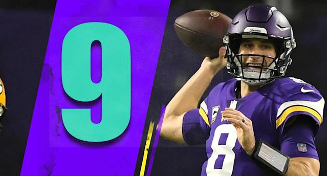 <p>Kirk Cousins has the highest completion percentage of his career, and, by three-tenths of a point, his highest passer rating. He's on pace to blow by his career high in touchdowns. It's hard to blame him for the Vikings having four losses already, though a lot of people will anyway. (Kirk Cousins) </p>