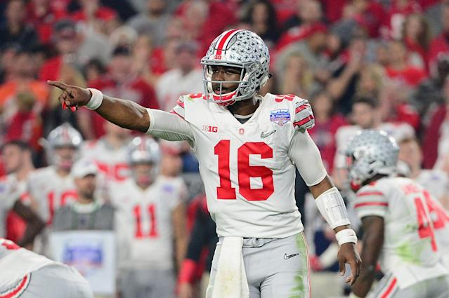 Can JT Barrett make strides as a passer in 2017? (Getty)