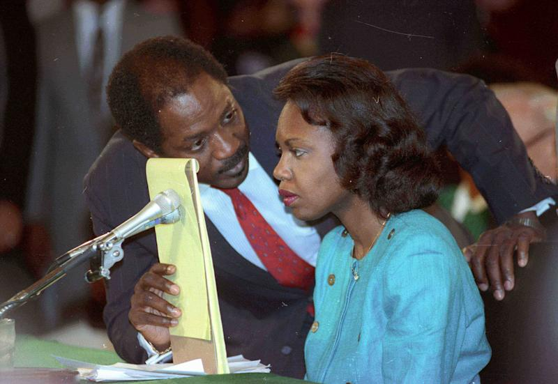 Anita Hill accused then-Supreme Court nominee Clarence Thomas of sexual harassment in 1991. (Reuters Photographer / Reuters)