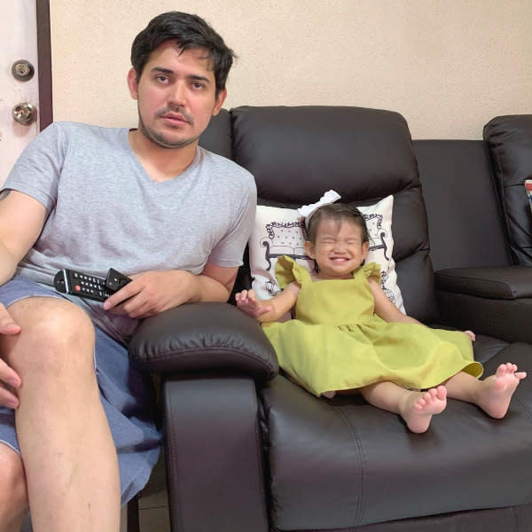 Paolo only left photos of him with his daughter on IG