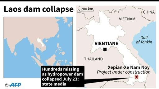 Laos dam collapse: Hundreds missing after floods hit villages
