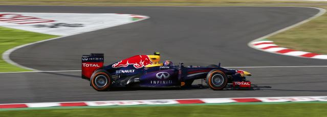 Red Bull Formula One driver Mark Webber of Australia drives during the qualifying session of the Japanese F1 Grand Prix at the Suzuka circuit October 12, 2013. REUTERS/Toru Hanai (JAPAN - Tags: SPORT MOTORSPORT F1)