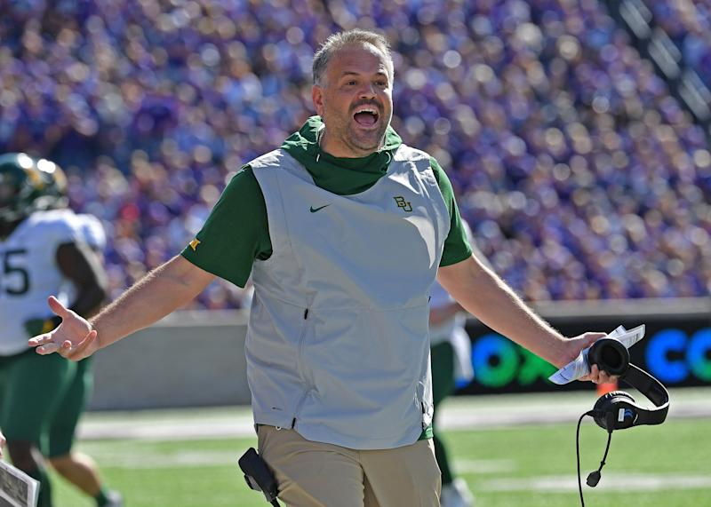 Baylor head coach Matt Rhule has the attention of the NFL. (Getty Images)