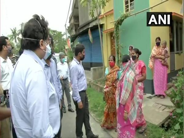 The MHA  team interacting with locals in Diamond Horbour area in WB over post-poll violence. (Photo/ ANI)