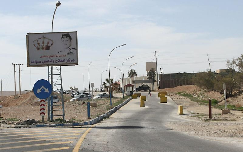 The entrance to the Jordanian Swaqa Prison, south of Amman - JAMAL NASRALLAH/EPA