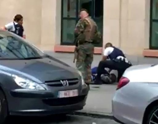 Man with knife shot dead after stabbing soldier in Brussels