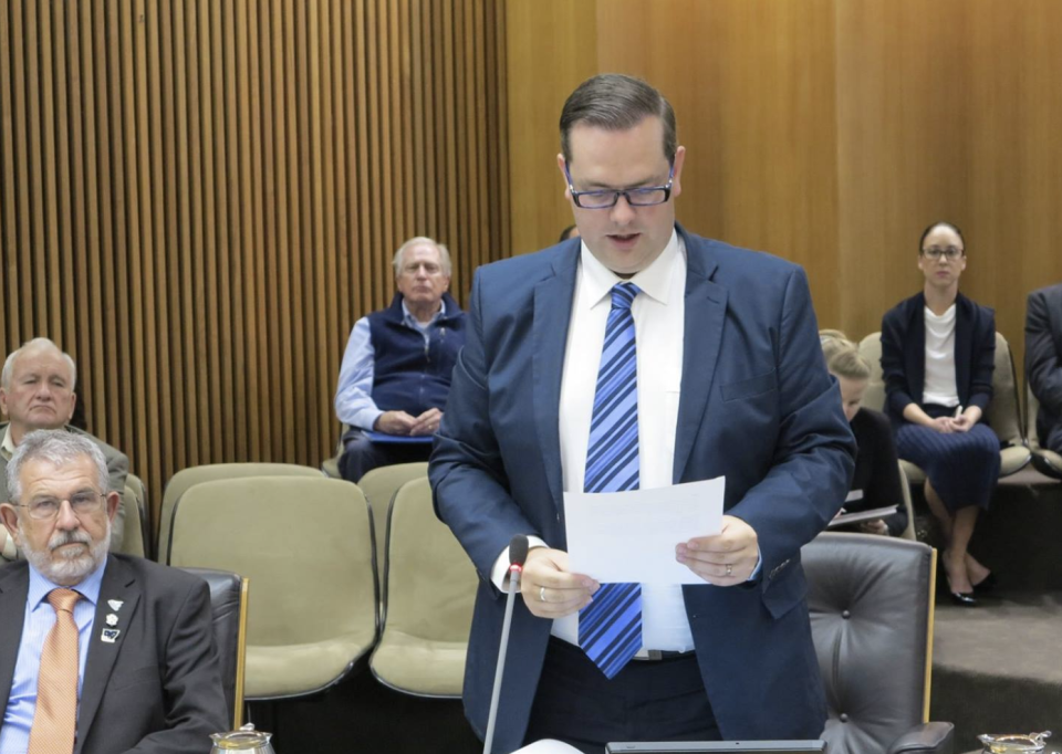 Lake Macquarie Councillor Kevin Baker is pictured.