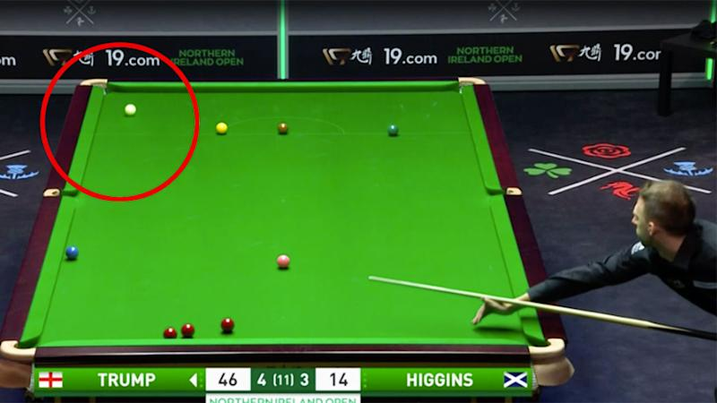 Judd Trump's brilliant shot against John Higgins was the talk of the snooker world.