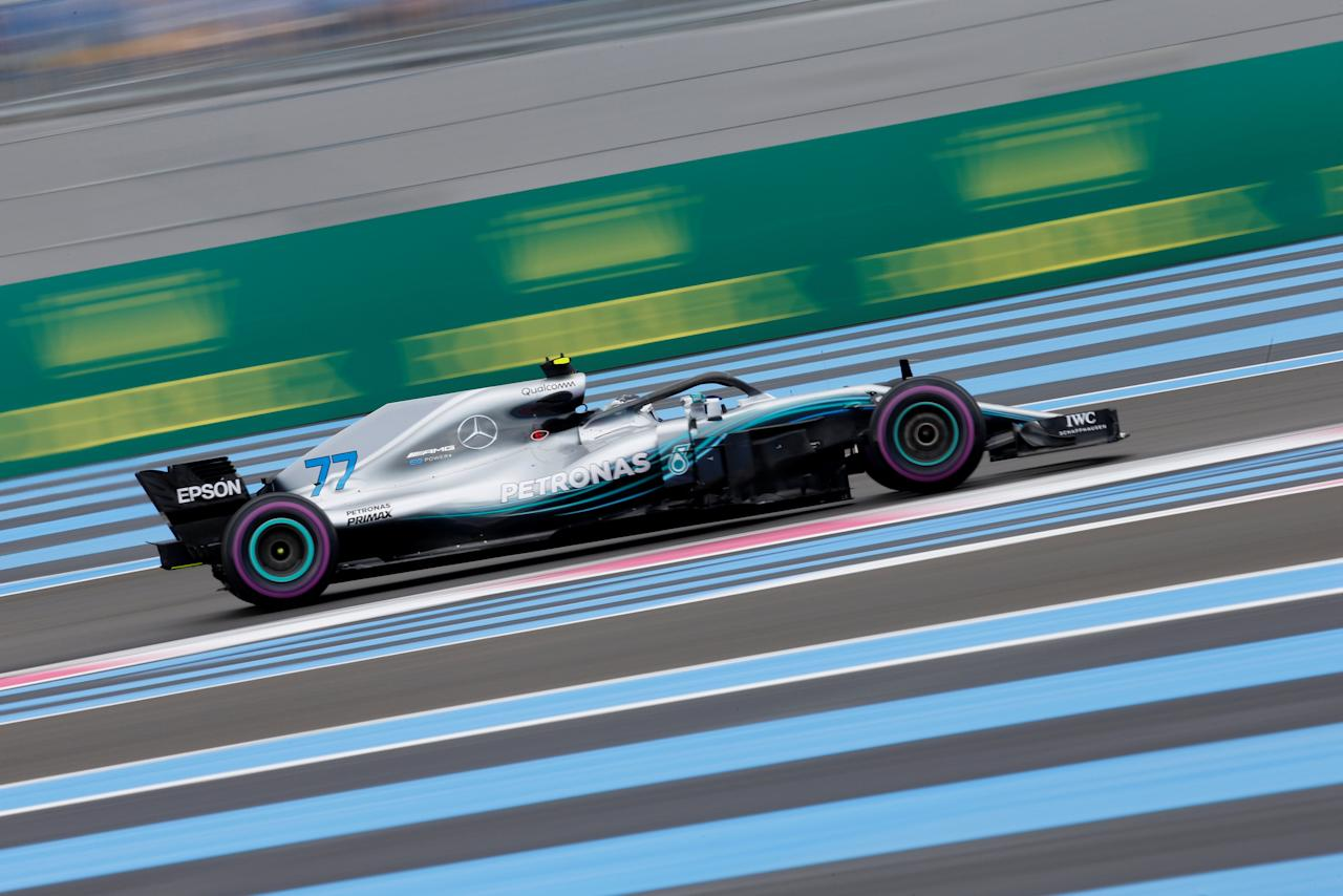 Formula One F1 - French Grand Prix - Circuit Paul Ricard, Le Castellet, France - June 23, 2018   Mercedes' Valtteri Bottas in action during qualifying    REUTERS/Jean-Paul Pelissier